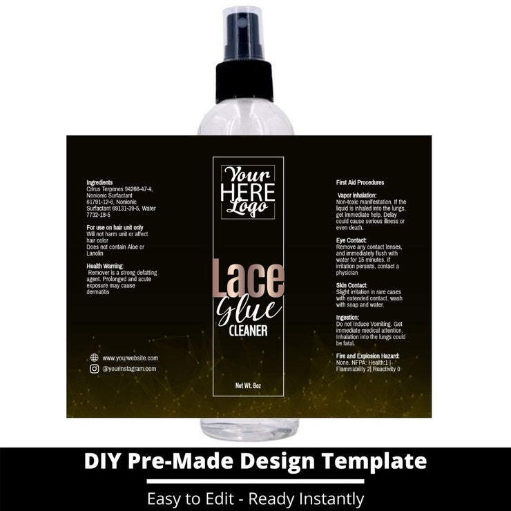 Lace Glue Cleaner Template 83