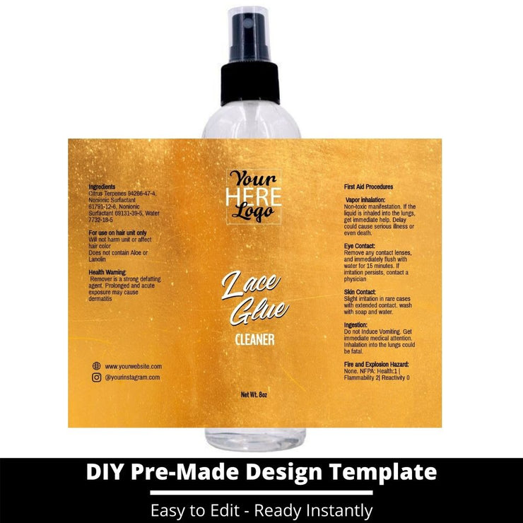 Lace Glue Cleaner Template 90