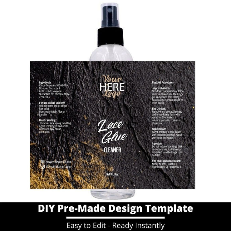 Lace Glue Cleaner Template 91