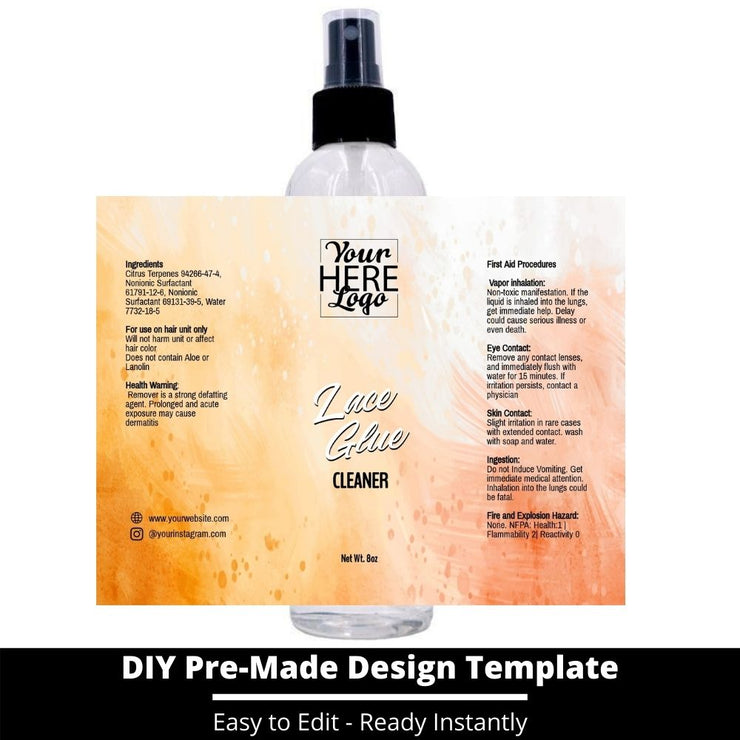 Lace Glue Cleaner Template 94