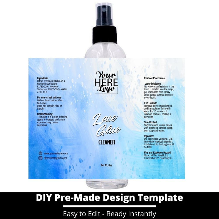 Lace Glue Cleaner Template 96