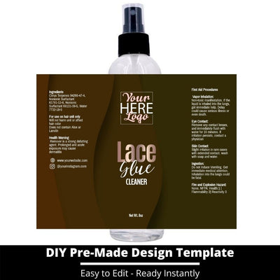 Lace Glue Cleaner Template 9