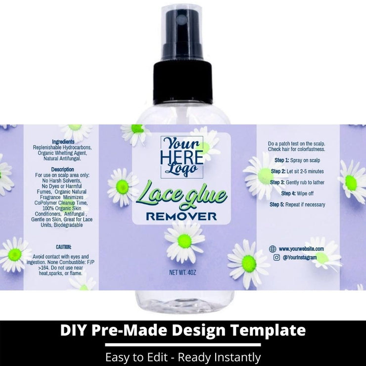 Lace Glue Remover Template 126