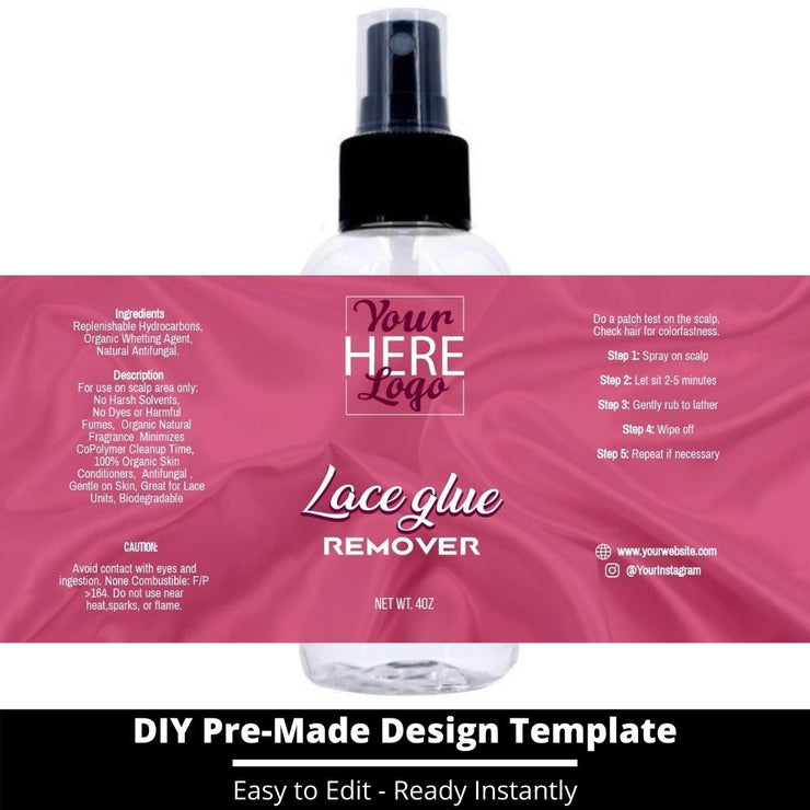 Lace Glue Remover Template 135