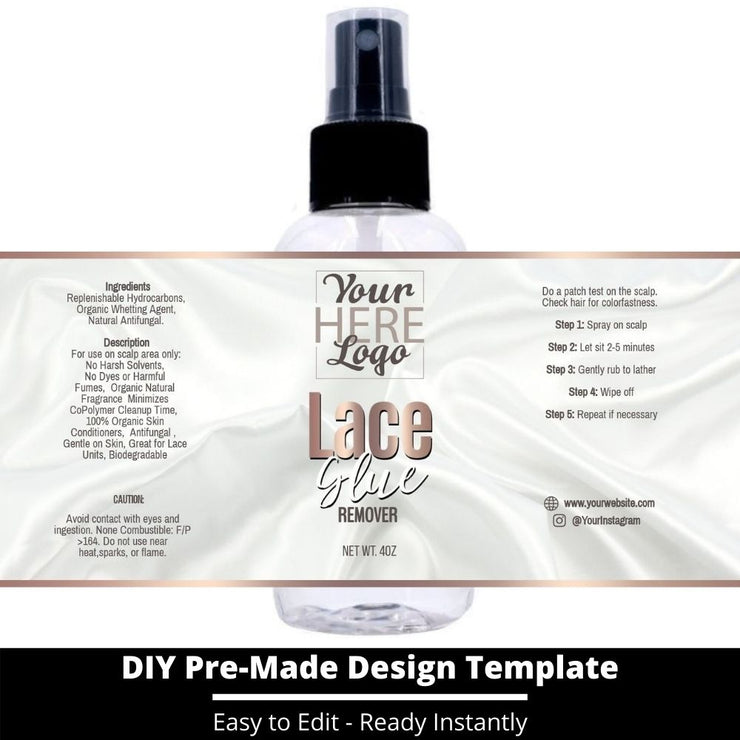 Lace Glue Remover Template 138