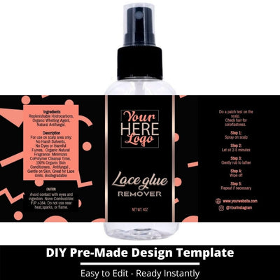 Lace Glue Remover Template 13