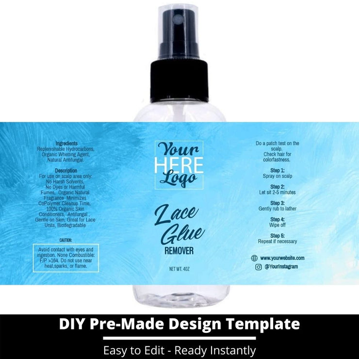 Lace Glue Remover Template 144