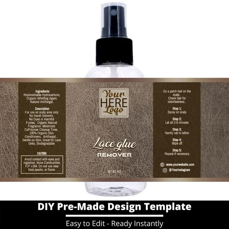 Lace Glue Remover Template 158