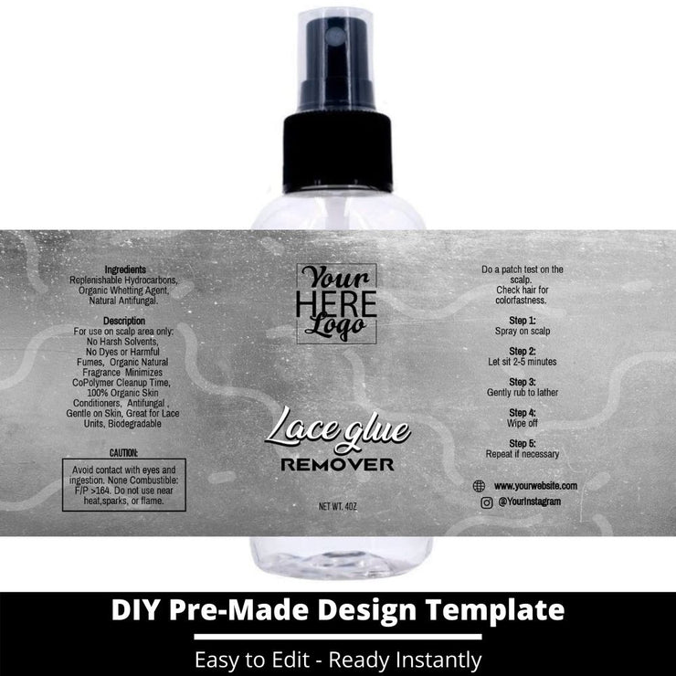 Lace Glue Remover Template 221