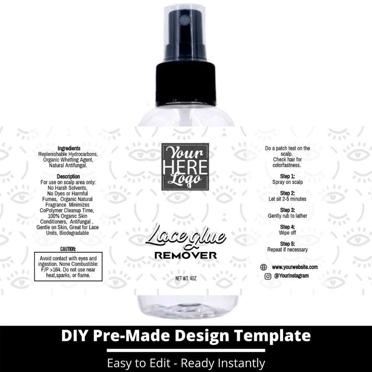 Lace Glue Remover Template 250