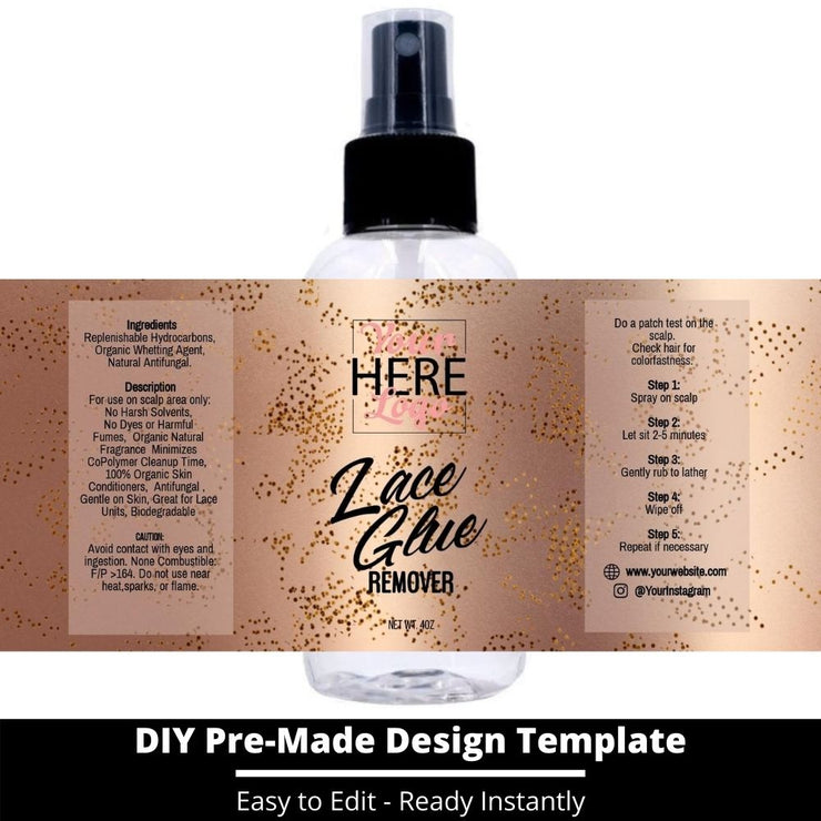 Lace Glue Remover Template 25