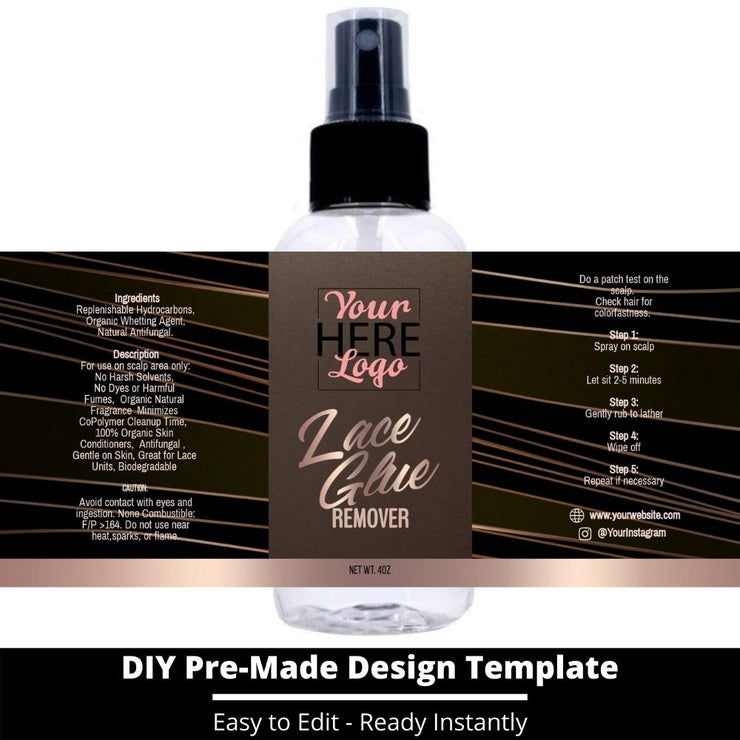 Lace Glue Remover Template 33