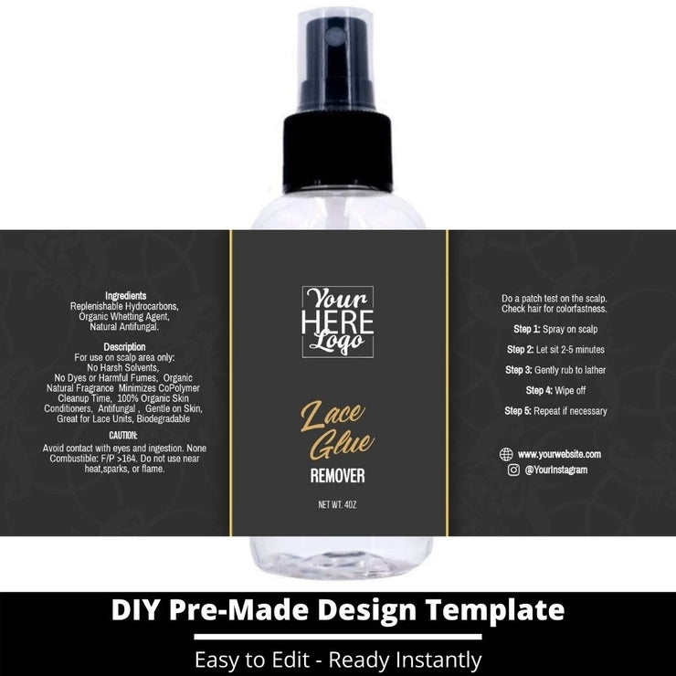 Lace Glue Remover Template 43