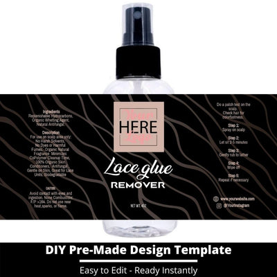 Lace Glue Remover Template 6