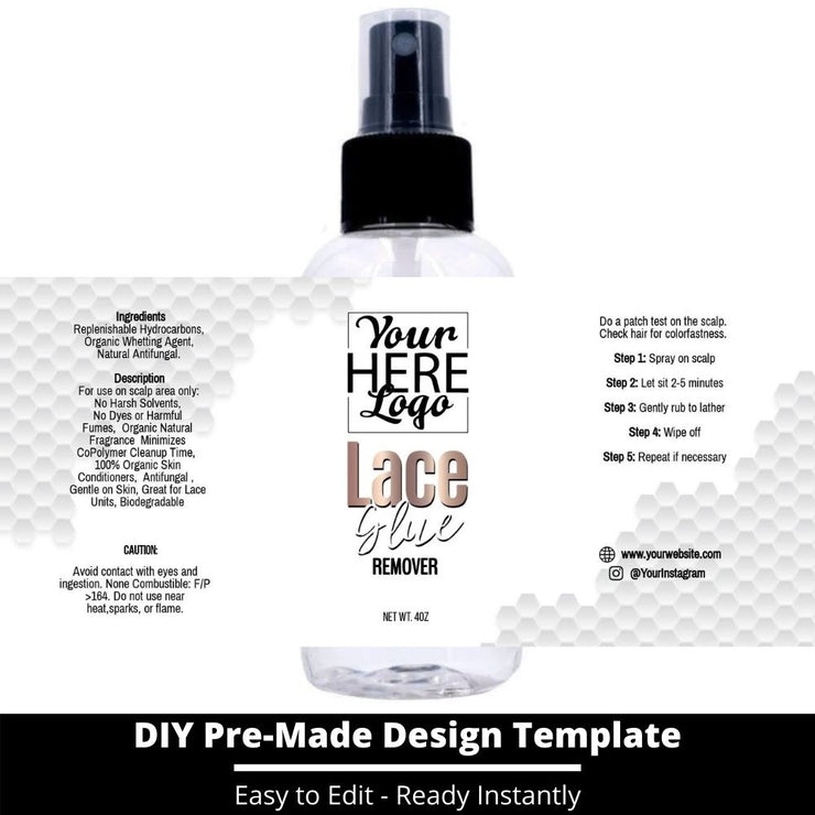 Lace Glue Remover Template 70