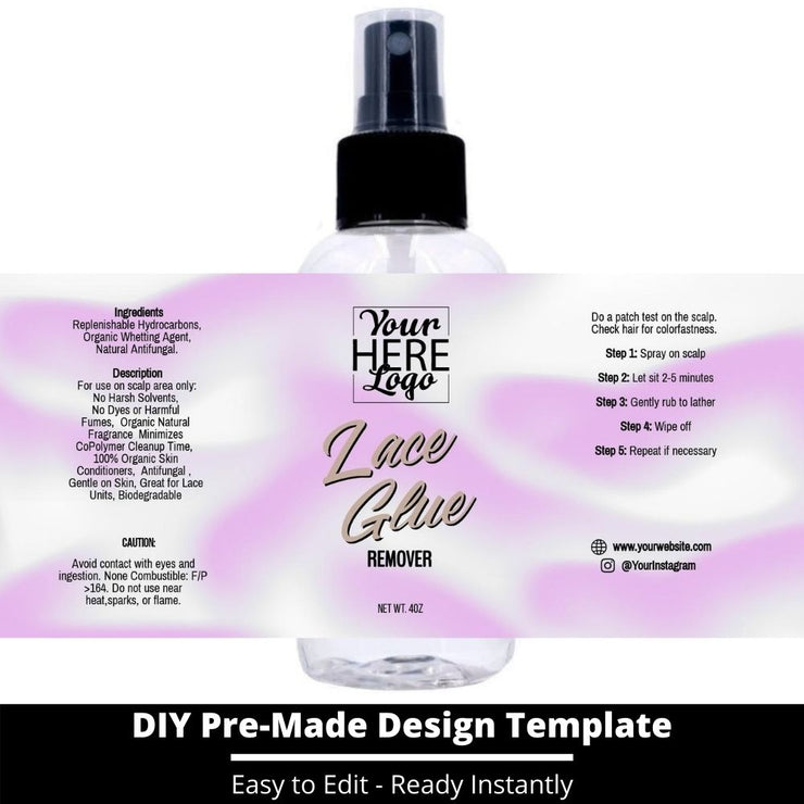Lace Glue Remover Template 74