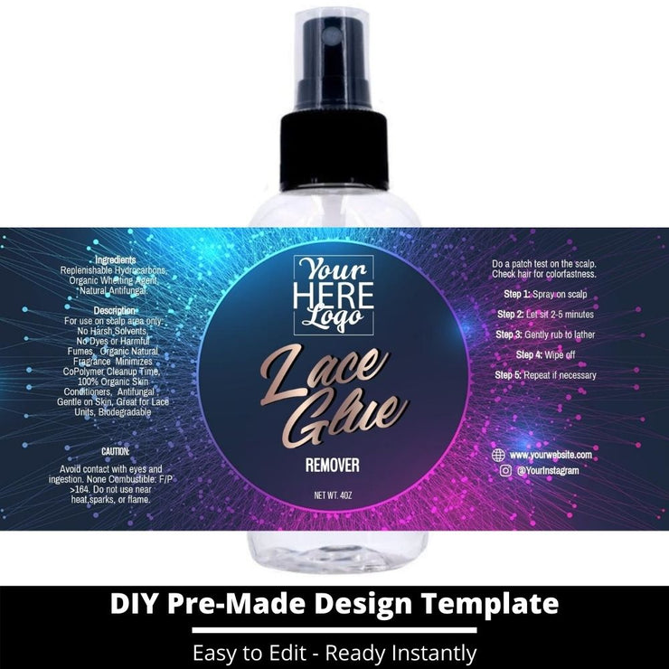 Lace Glue Remover Template 75