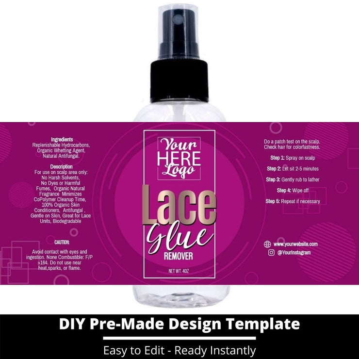 Lace Glue Remover Template 86