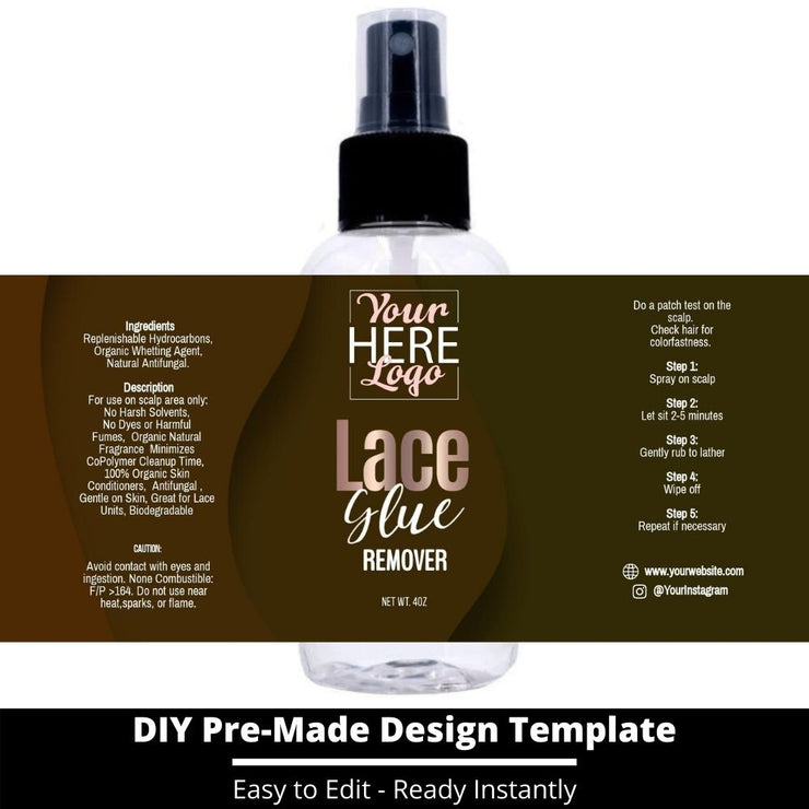 Lace Glue Remover Template 9