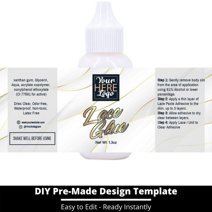 Lace Glue Template 103