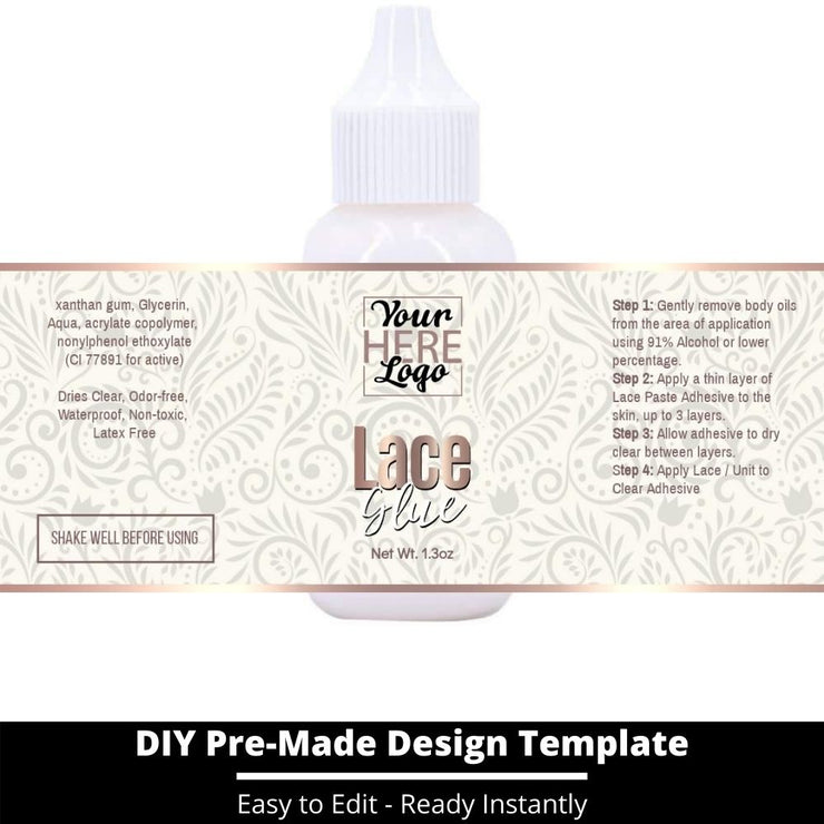 Lace Glue Template 110