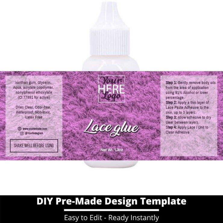 Lace Glue Template 115