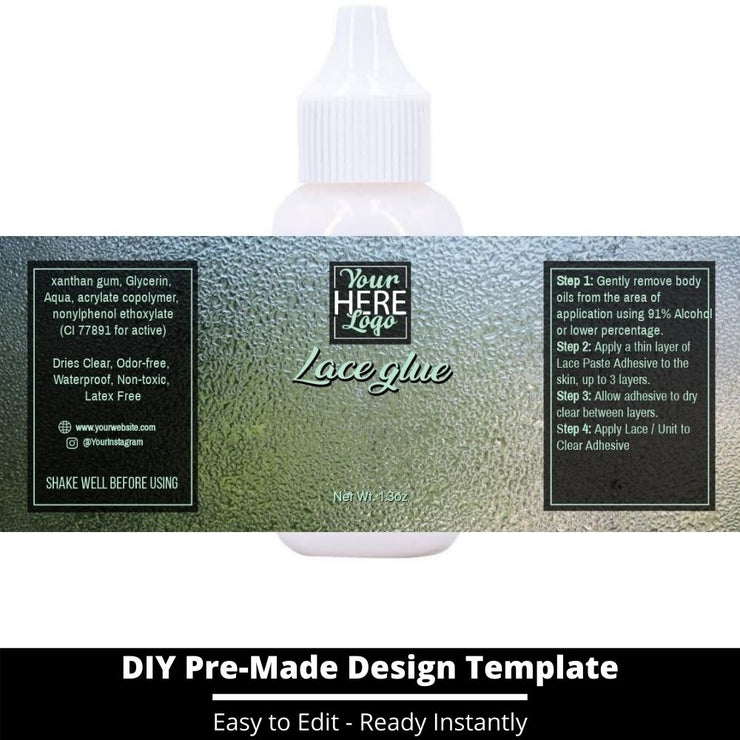 Lace Glue Template 129