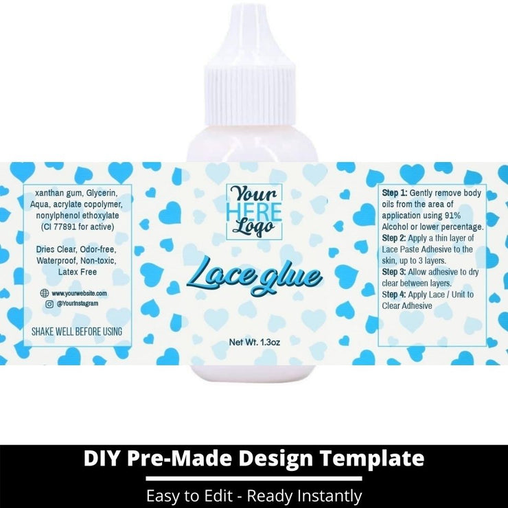 Lace Glue Template 132