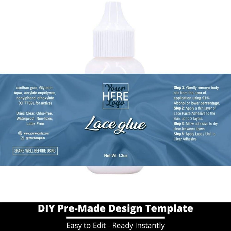 Lace Glue Template 137