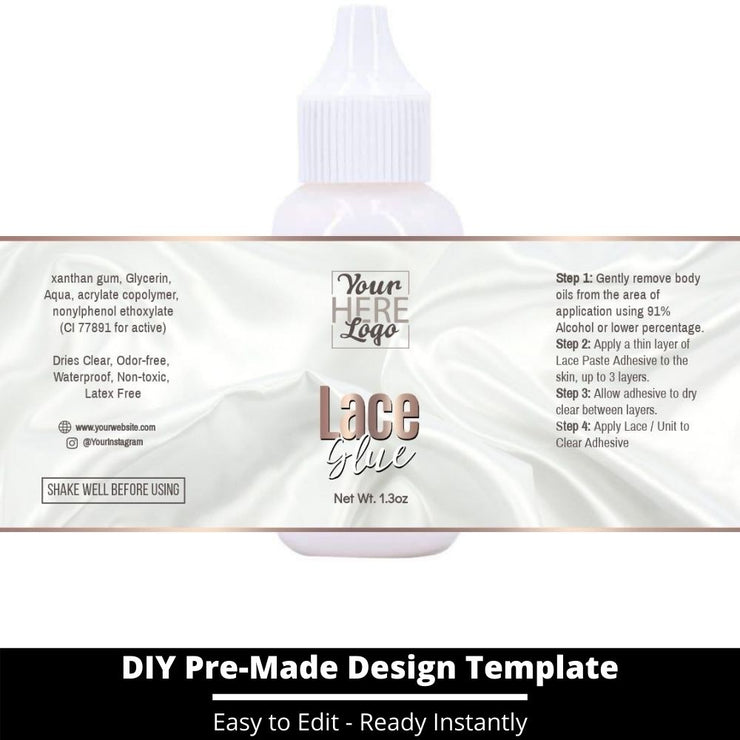 Lace Glue Template 138