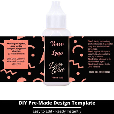 Lace Glue Template 13