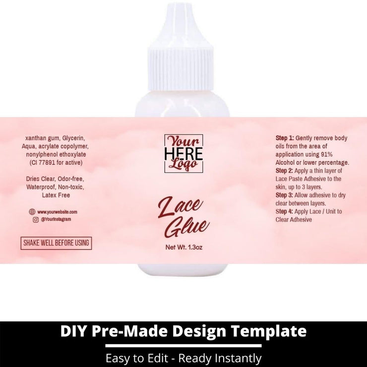 Lace Glue Template 143