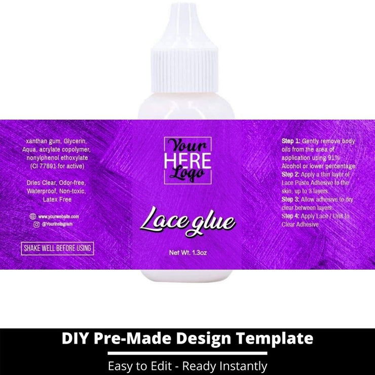 Lace Glue Template 148