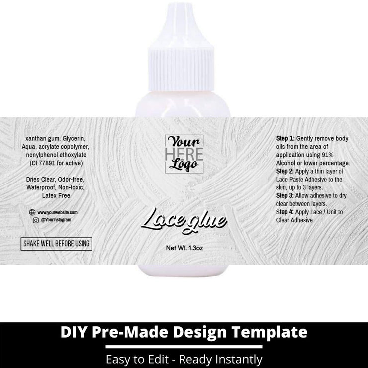 Lace Glue Template 153