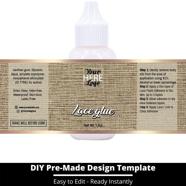 Lace Glue Template 157