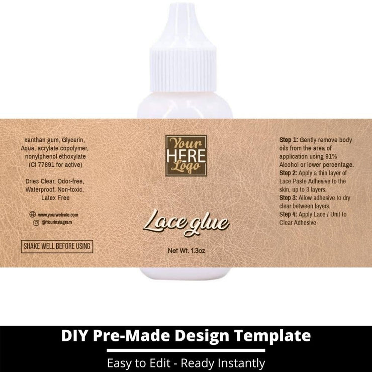 Lace Glue Template 160