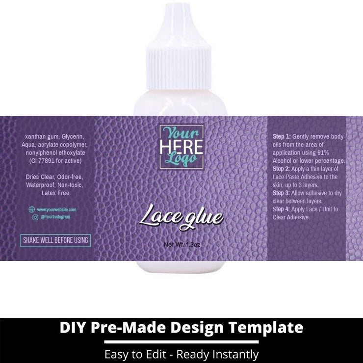 Lace Glue Template 164