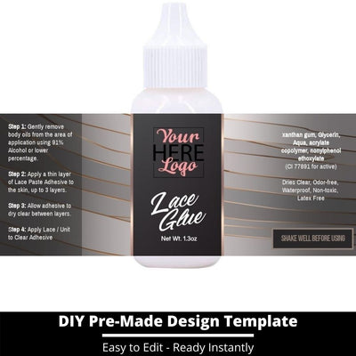 Lace Glue Template 16