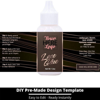 Lace Glue Template 18