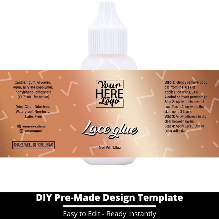 Lace Glue Template 219