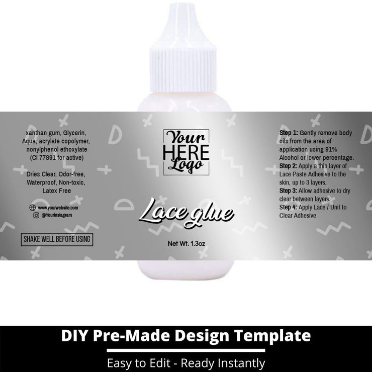 Lace Glue Template 220