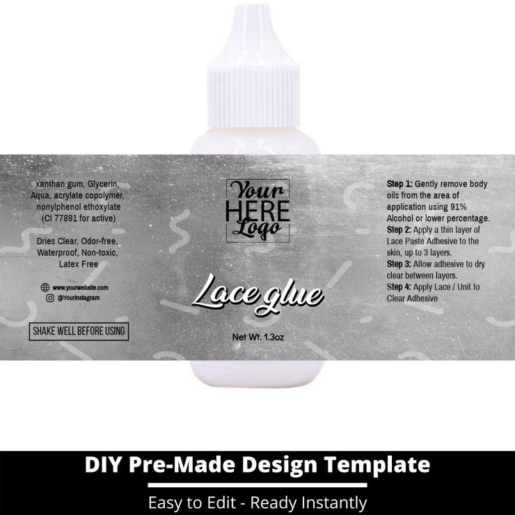 Lace Glue Template 223