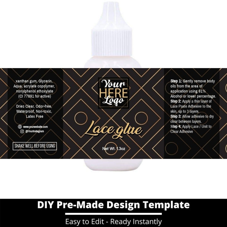 Lace Glue Template 226
