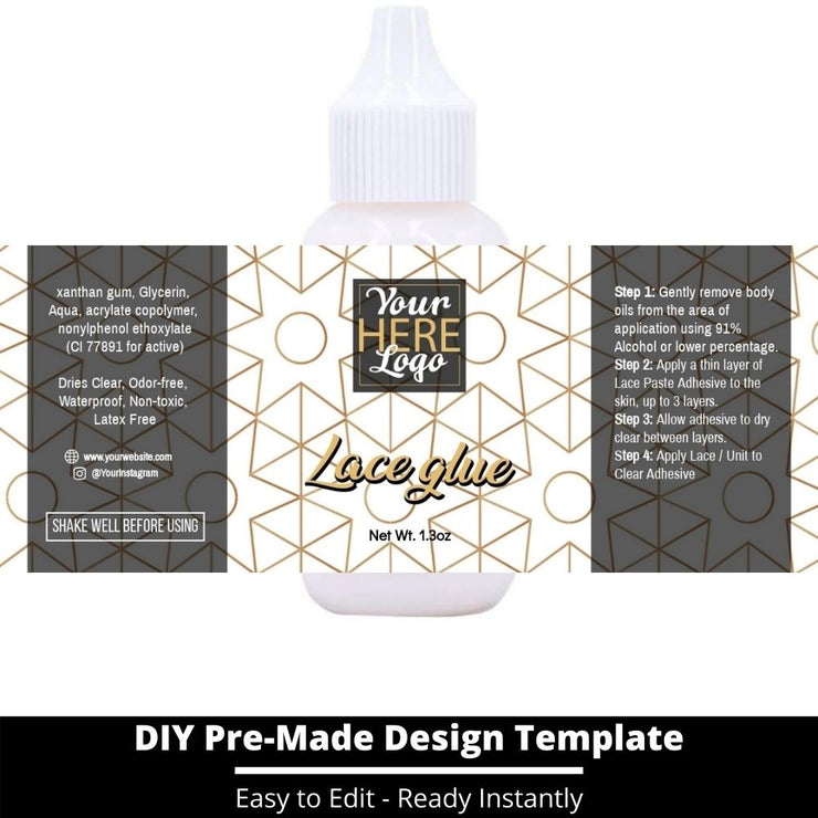 Lace Glue Template 228