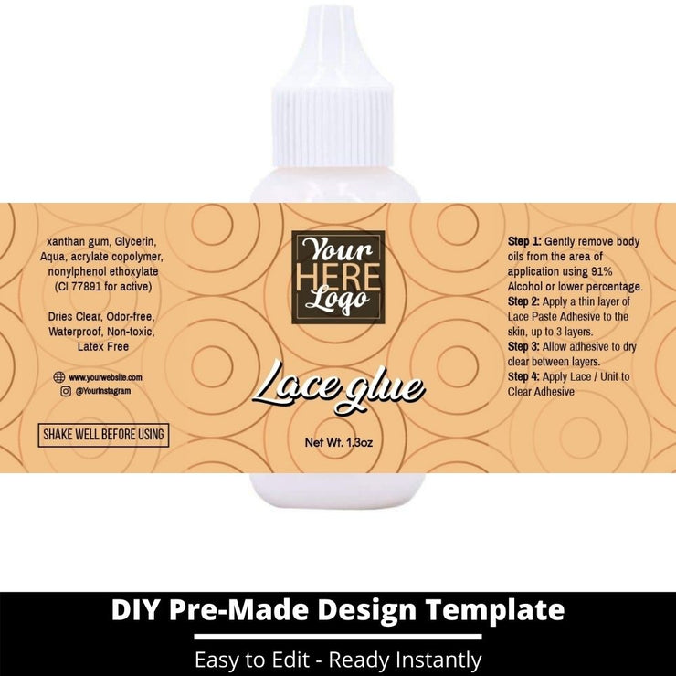 Lace Glue Template 230