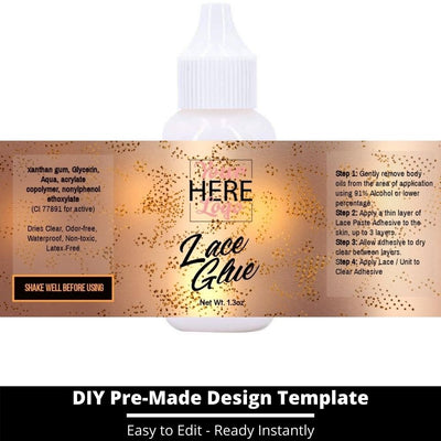 Lace Glue Template 24