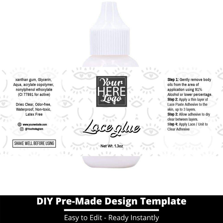 Lace Glue Template 250