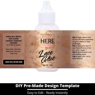 Lace Glue Template 25