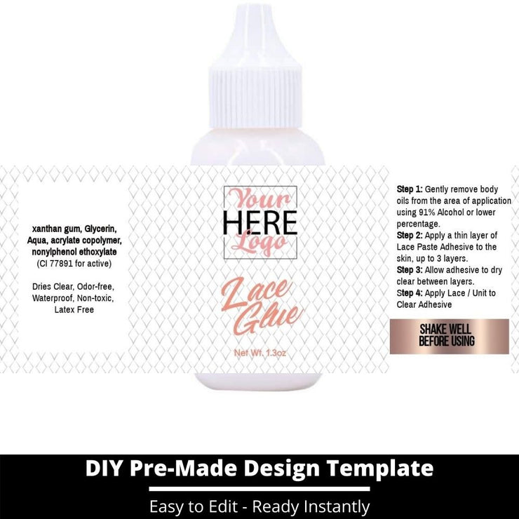Lace Glue Template 31