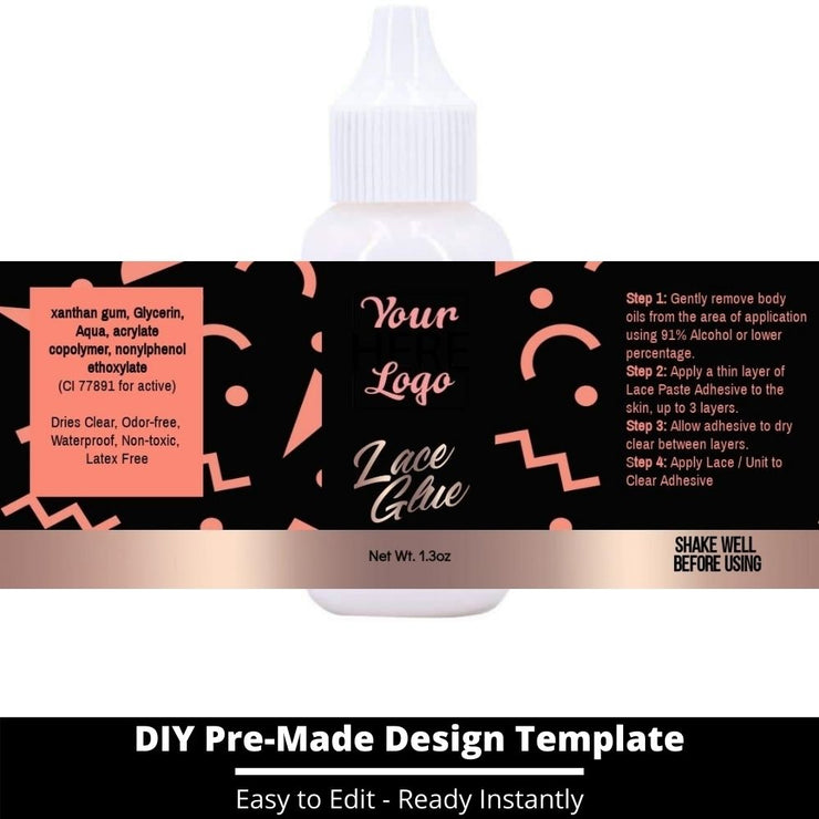 Lace Glue Template 32